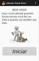 Screenshot of Cálculos de Horas Extras