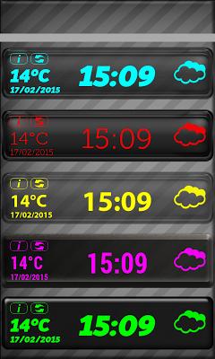 LED Digi Clock Weather Widget - screenshot