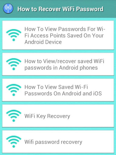 How to Recover Wifi Key