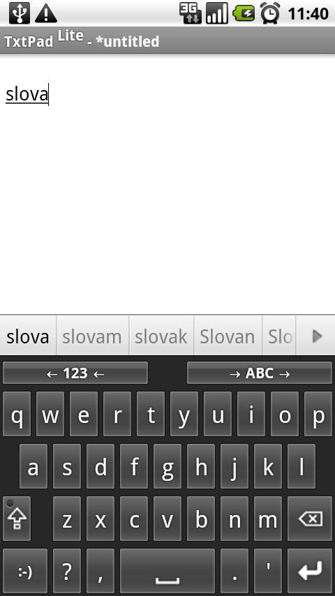 Slovak for AnySoftKeyboard- screenshot