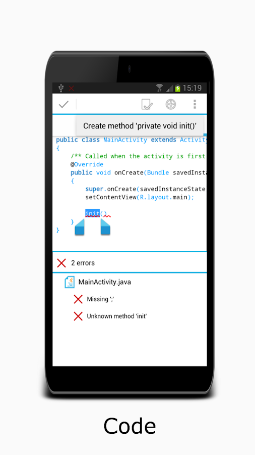 AIDE- IDE for Android Java C++ - screenshot
