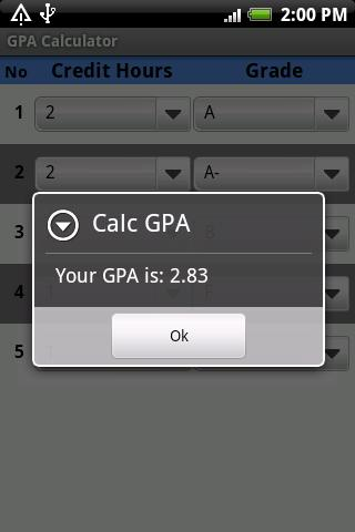 GPA Calculator- screenshot