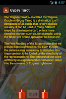 Screenshot of Gypsy Tarot