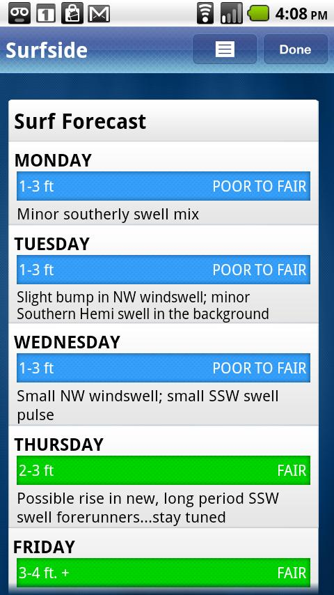 Surfline Surf Report - screenshot
