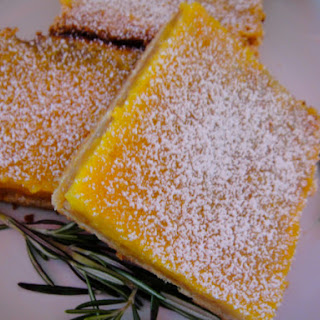 Lemon Curd Squares with Rosemary