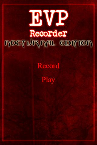 EVP Recorder Nocturnal GHOST