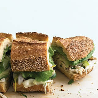 Chicken and Marinated-Zucchini Sandwich.