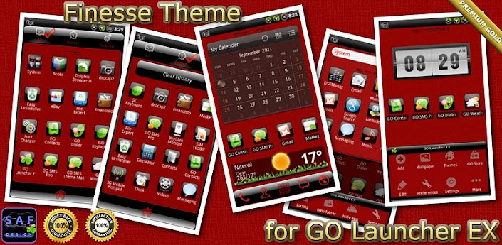 Finesse GO Launcher EX Theme v1.02