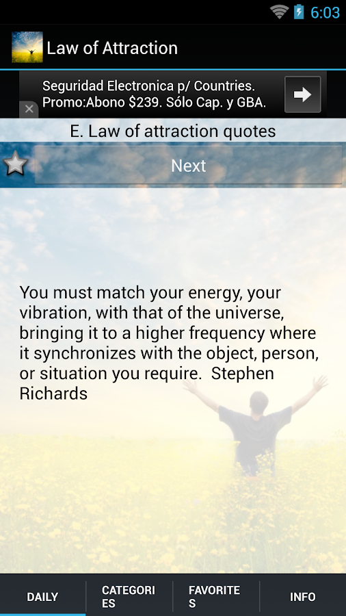 Law of Attraction Quotes &Tips- screenshot