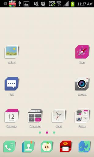 Simplecard go launcher theme