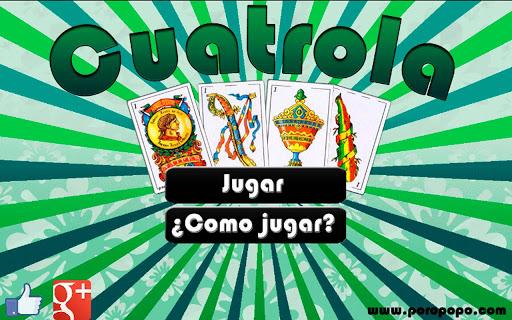 스페인어 Cuatrola 카드 놀이