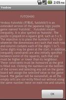 Screenshot of Futoshiki Mobile