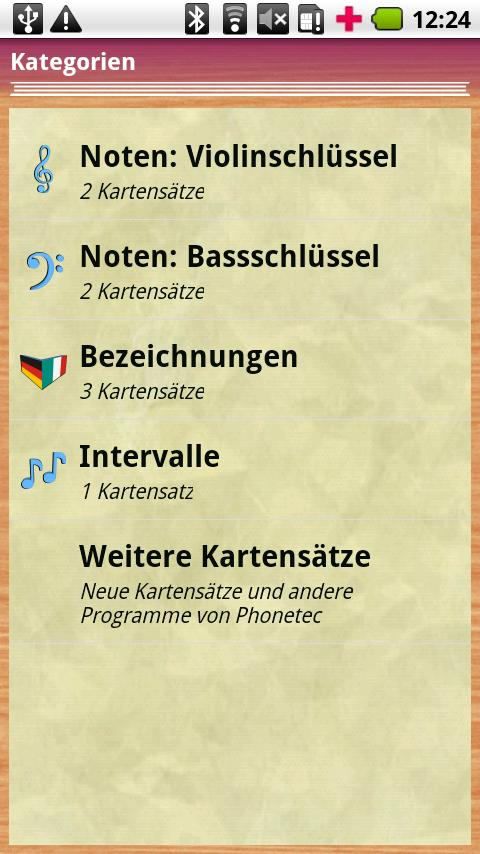 PT Cards Musik 1x1 – Screenshot