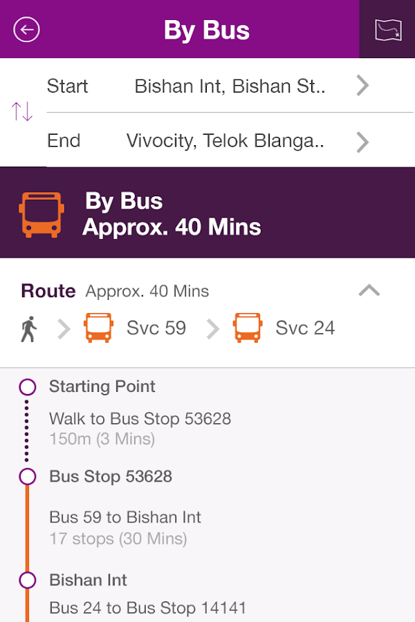 SBS Transit iris- screenshot