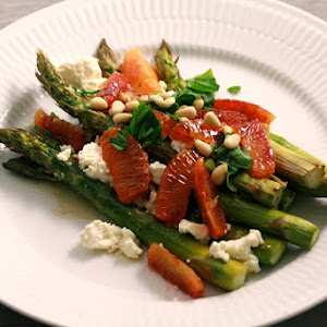 Green Asparagus with Orange and Feta