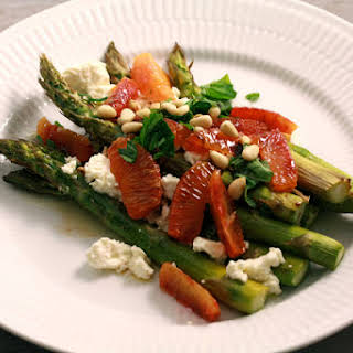 Green Asparagus with Orange and Feta.