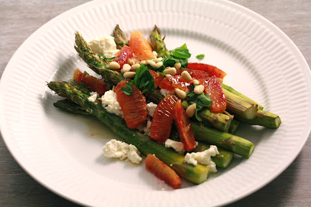 Green Asparagus with Orange and Feta Recipe