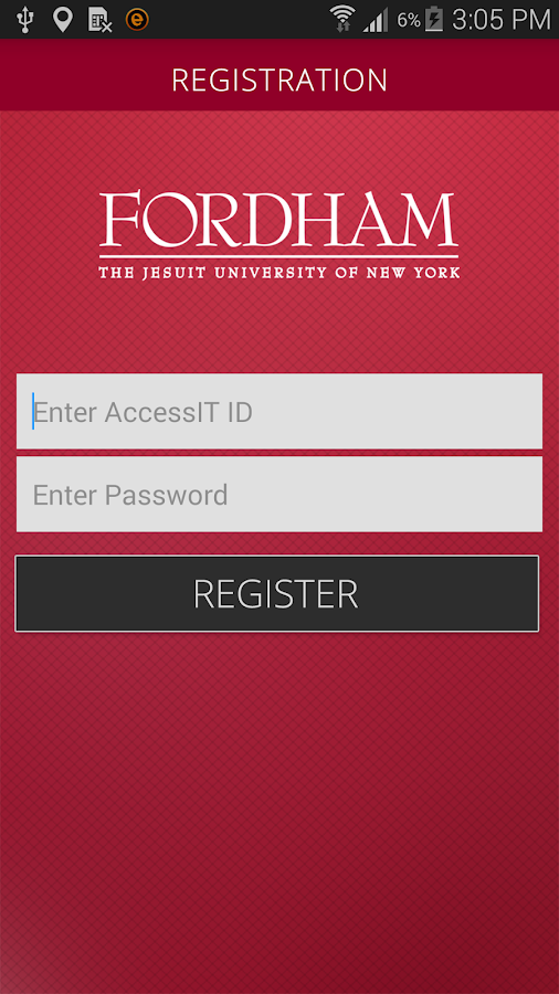 Fordham Safeapp- screenshot