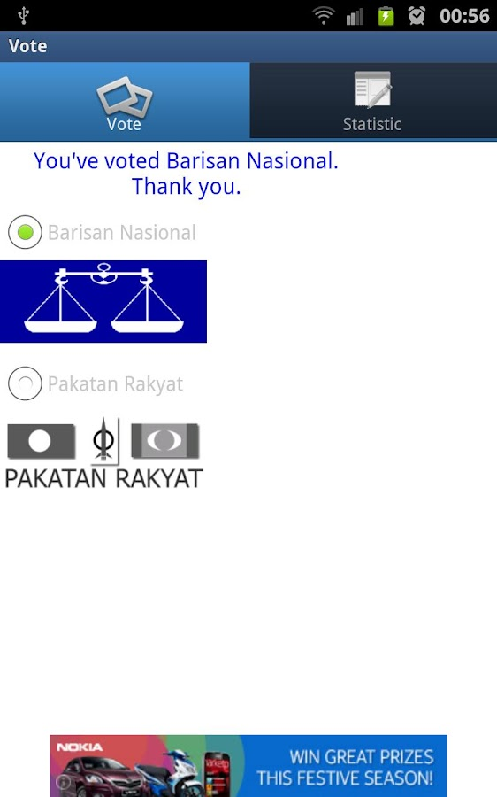 GE13 - SPR Vote Survey - screenshot