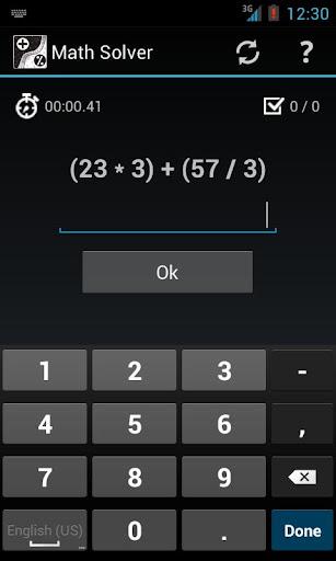 Math Solver Mental calculation