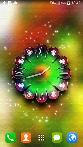 Neon Clock Live Wallpaper