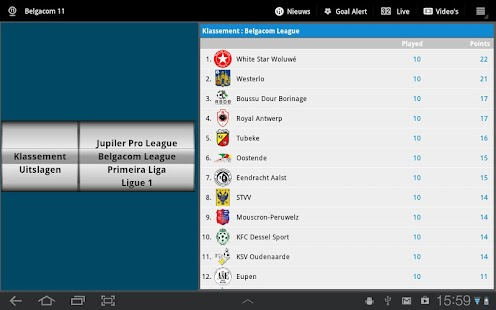 Belgacom 11 Tablet - screenshot thumbnail