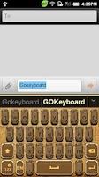 Screenshot of GO Keyboard Steam Punk theme