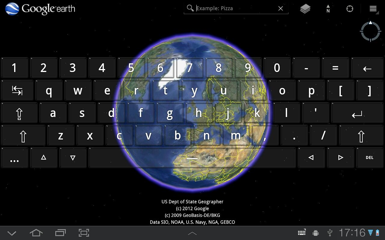 Transparent Keyboard Tablet - screenshot