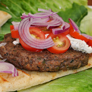 Lamb Burger Pitas with Two-Pepper Chutney