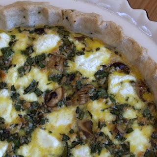 Mushroom and Goat Cheese Quiche