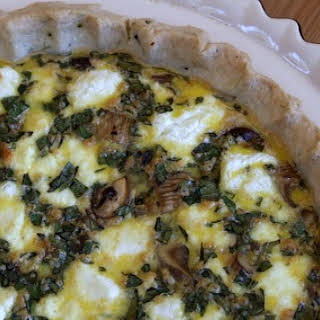 Mushroom and Goat Cheese Quiche.