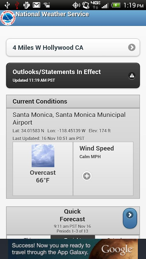 NWService Weather Lite - screenshot