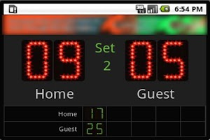 Screenshot of Scoreboard Volley ++