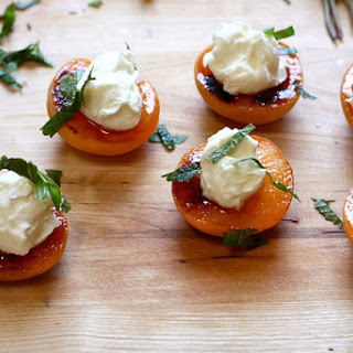 Simple Roasted Apricots with honey mascarpone.