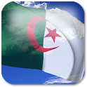 3D Algeria Flag + icon