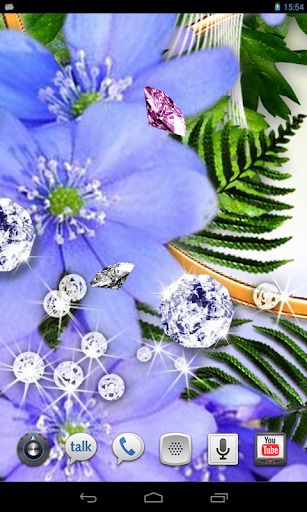Diamonds Flowers LWP