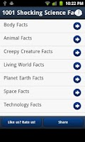 Screenshot of 1001 Shocking Science Facts
