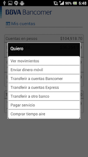Bancomer móvil - screenshot thumbnail