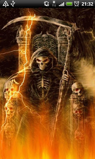 Fire Grim Reaper L Wallpaper