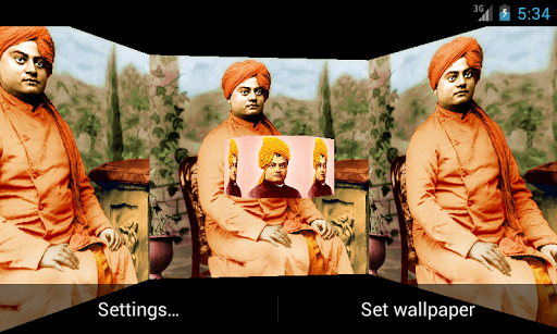 Swami Vivekananda 3D LWP