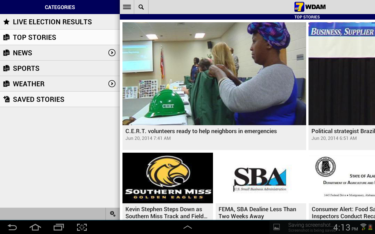 WDAM Local News (Android) reviews at Android Quality Index