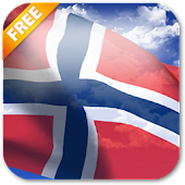 3D Norway Flag Live Wallpaper