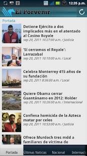 Periodico El Porvenir - screenshot thumbnail