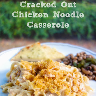 Cracked Out Chicken Noodle Casserole.