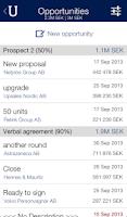 Screenshot of Upsales