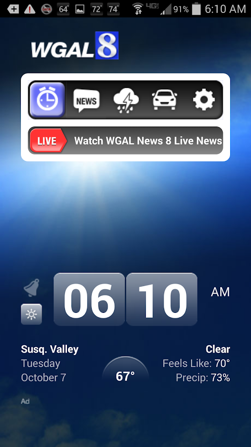 Alarm Clock WGAL 8 Susq Valley - screenshot