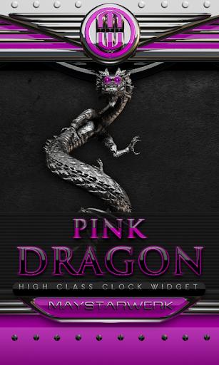 ドラゴン時計ウィジェット ピンク