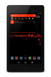 Bright Red Theme CM11.0 Theme v1.0