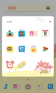Leaves Dodol launcher theme - screenshot thumbnail