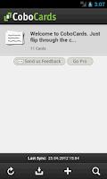 Screenshot of CoboCards flashcards